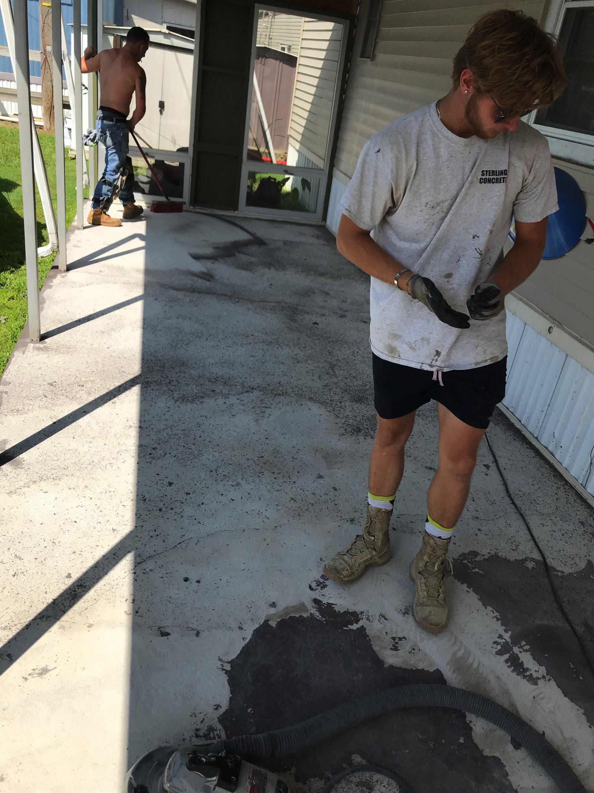 Stained Concrete Floor, Concrete Floor Finishes, Floor-Tex Topcoat |